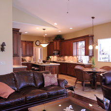 Traditional Living Room by NWC Construction