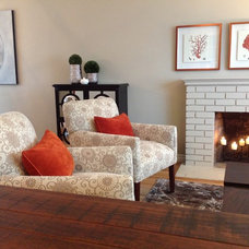 Transitional Living Room by Wow Great Place