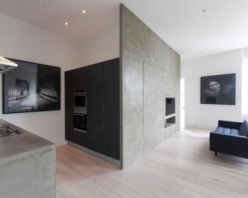 Faux Concrete Wall Home Design Ideas Pictures Remodel