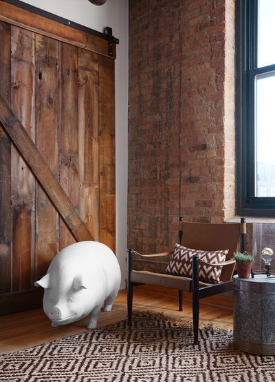 Transitional Living Room by Jen Talbot Design