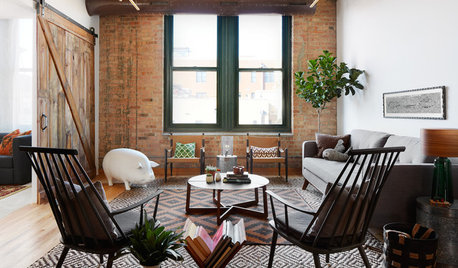Stickybeak of the Week: Rustic City Living Room Big on Upcycled Finds