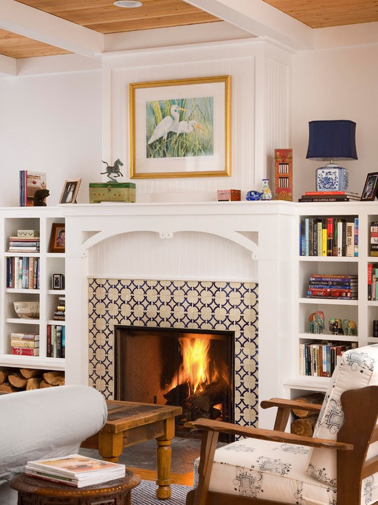 Ceramic Tile Fireplace Surround Houzz