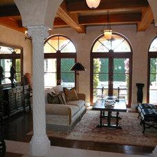 Mediterranean Living Room by Dawn Michelle Designs, LLC