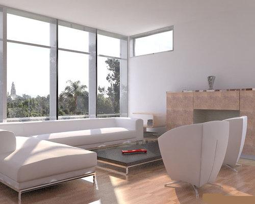 Trendy Living Room Photo In San Diego