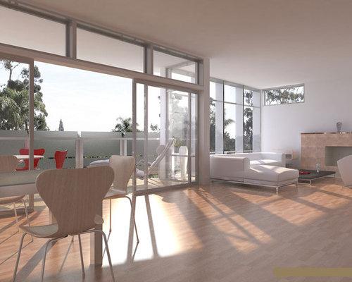Contemporary Living Room Idea In San Diego