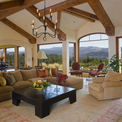 traditional living room by McNamee Construction