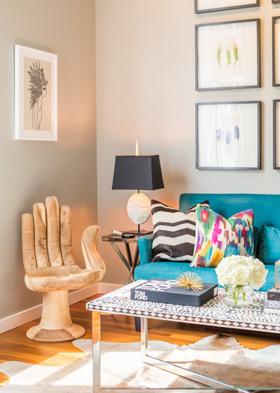 Room Of The Day Jewel Tones Wake Up A Narrow Living Room