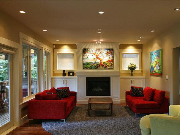 Traditional Living Room by Kenorah Design + Build Ltd.