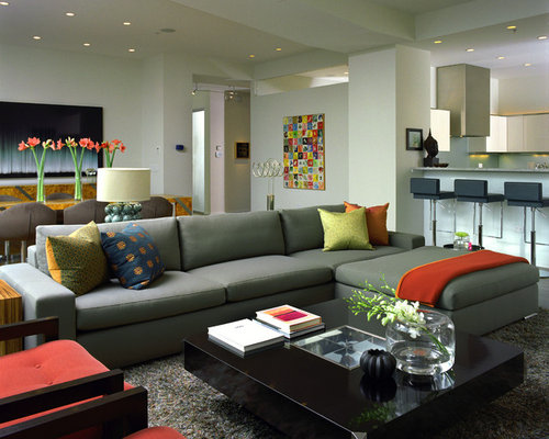 Green red and black living room design ideas renovations for Green and black living room ideas