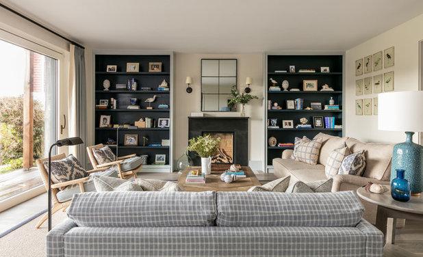 Beach Style Living Room by Lisette Voute Designs