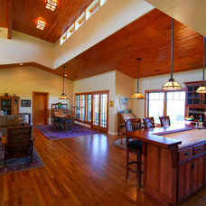Craftsman Living Room by Odenwald Construction Company