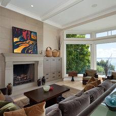 Contemporary Living Room by John McSkimming Construction Ltd