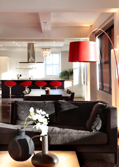 living room lamp shades.  10 Ways a Red Lamp Shade Can Sass Up Room
