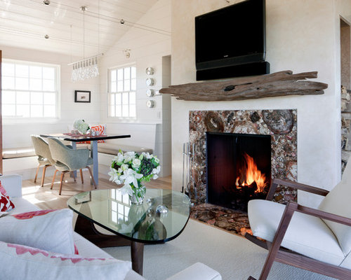 Driftwood Mantel Home Design Ideas Pictures Remodel And