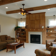 Craftsman Living Room by Riemco Building Co.