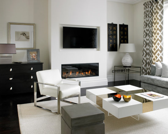 Contemporary Fireplace Ideas Houzz