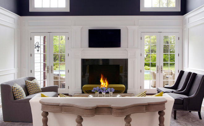 Transitional Living Room by Jacob Snavely Photography