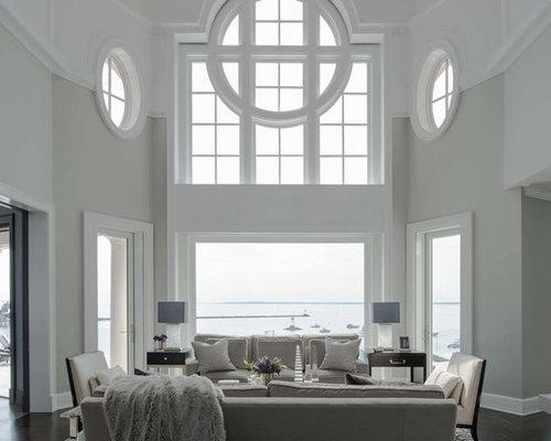Wohnideen f r maritime wohnzimmer mit grauen w nden ideen design houzz - Maritimes wohnzimmer ...
