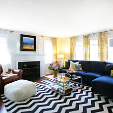 Transitional Living Room by Debbie Basnett, Vintage Scout Interiors