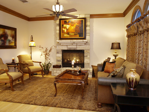 Traditional Living Room by Greg Logsdon