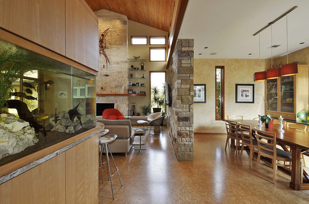 Contemporary Living Room By Cornerstone Architects. Cornerstone Architects.  The Pros Of Cork Flooring Part 72