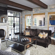 Contemporary Living Room by Tracy Miller/Miller Greene Design Studio
