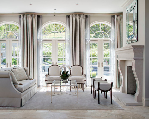 Formal French Country Living Room | Houzz
