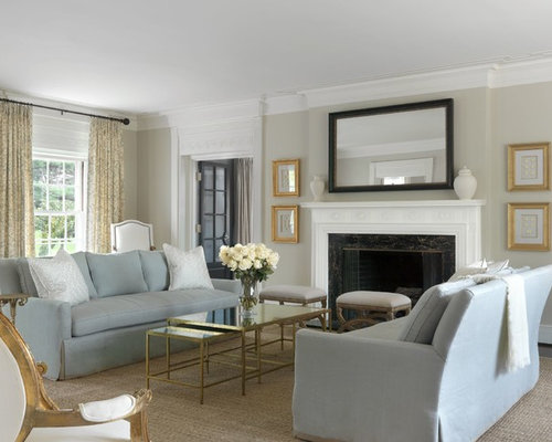 Beige walls white trim home design ideas pictures remodel and decor for Benjamin moore clay beige living room