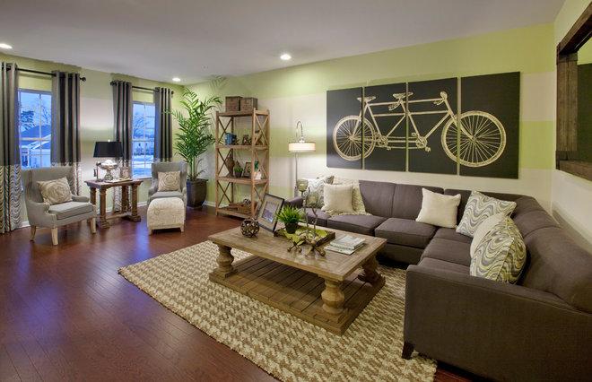 Transitional Living Room by Gacek Design Group, Inc.