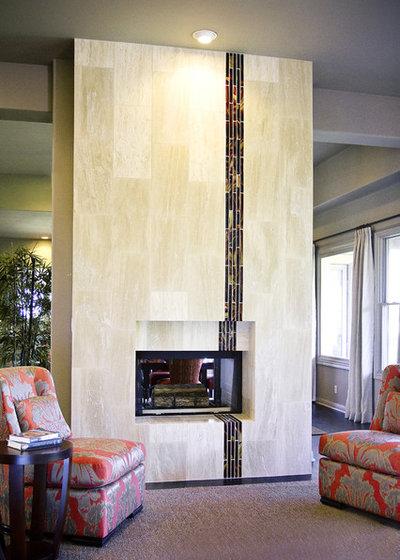 Contemporary Living Room by Allison Jaffe Interior Design LLC