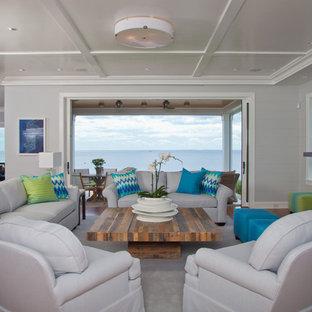 Westport, CT Stunning Beachfront Sanctuary - Full View of Living Room