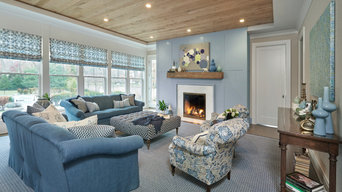 Westport | Traditional Blue Themed | Living Room Design