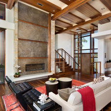 Modern Living Room by Tobin Dougherty Architects