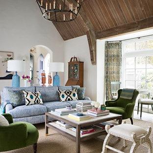 surprising white living rooms dark wood floors | 75 Most Popular Dark Wood Floor Living Room Design Ideas ...
