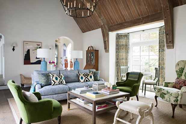 Transitional Living Room by Paige Pierce Design