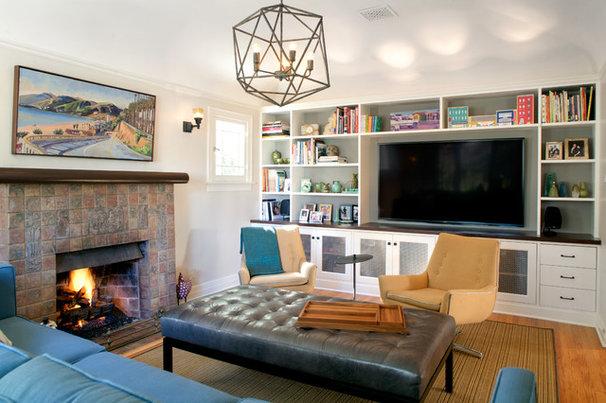 Craftsman Living Room by JWT Associates