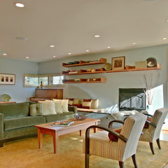 contemporary living room by David Neiman Architects