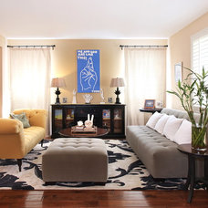 Transitional Living Room by Olive, LLC