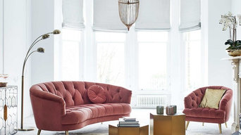 What the Butler Saw | Pink Velvet Sofa Range