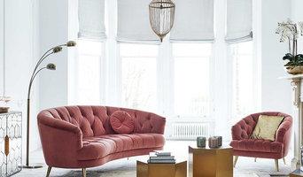 What the Butler Saw | Pink Velvet Sofa Range