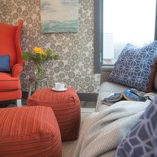 Contemporary Living Room by Sunbrella
