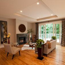 Traditional Living Room by Jim Kuiken Design