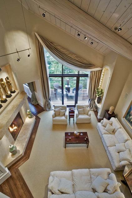 Traditional Living Room by Debbie Evans Interior Design