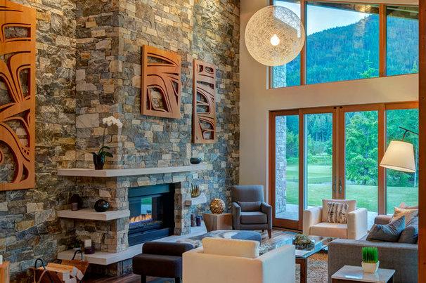 Modern Living Room by Maza Interior Design