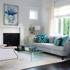 Modern Living Room white and blue