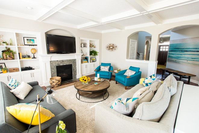 Contemporary Living Room by Jenny Baines, Jennifer Baines Interiors