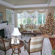 Traditional Living Room by New England Fine Living
