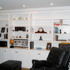 Traditional Living Room by Kent Cabinetry and Millwork Inc