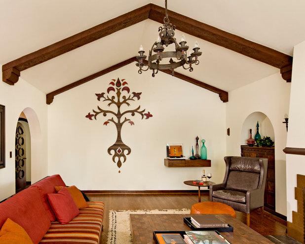 Mediterranean Living Room by Jessica Helgerson Interior Design