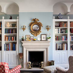 eclectic living room by Keith Bruns Woodworking